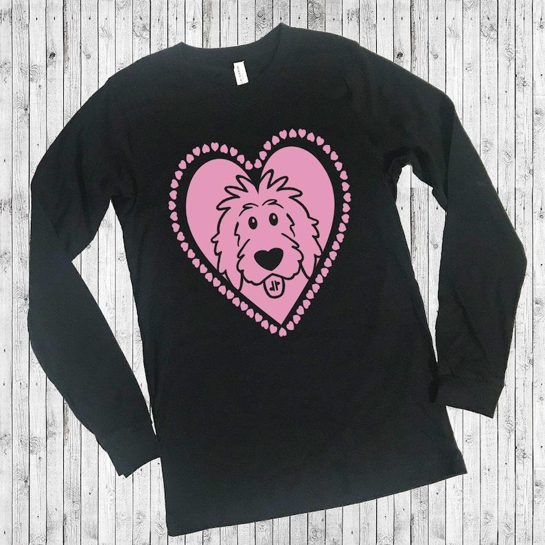Doodle Heart Black Shirts  Valentine doodle shirts doodle Long Sleeve Crew