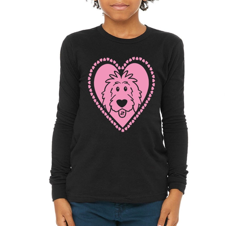 Kids Valentine Doodle Shirts Heart Long Sleeve