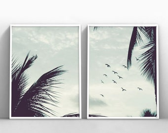 palm tree poster etsy