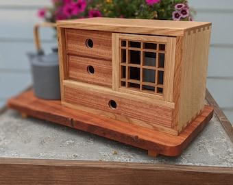 Japanese style tea cabinet - handcrafted - kumiko