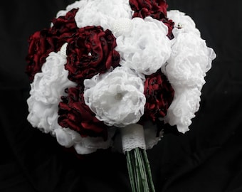 Fabric Bouquet with Stems