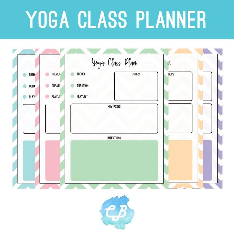 Yoga Sequence Class Plan, Yoga, Class Plan Printable, Yoga Stationery,  Printable Planner, Yoga Sequence, Yoga Gift, Digital Download