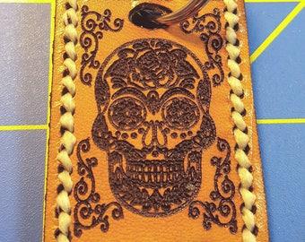 Keychain - Leather - Sugarskull