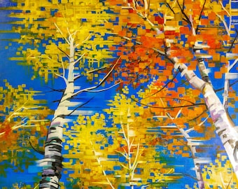 An Autumn Vacation- Uintah Mountains, Utah- Matted Limited Edition Print