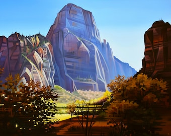 Canyon Royalty - Zion National Park, Utah- Matted Limited Edition Print