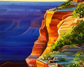 Sunset Lookout -  Grand Canyon National Park, Arizona- Matted Limited Edition Print