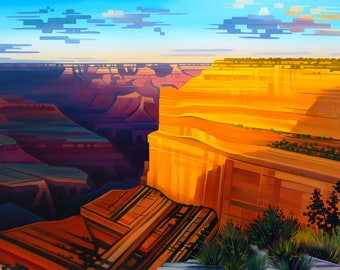 The Grand Symphony - Grand Canyon National Park, Arizona- Matted Limited Edition Print