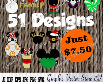 Bundle svg, Files for Silhouette, Printable, Cricut, Files for Cutting Machine, Files for Decor, Print Files.