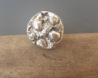 Ocean Barnacles. Textured Ring.