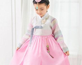 876bb1fb229 Korean Dress Hanbok for Girl Soft Pink