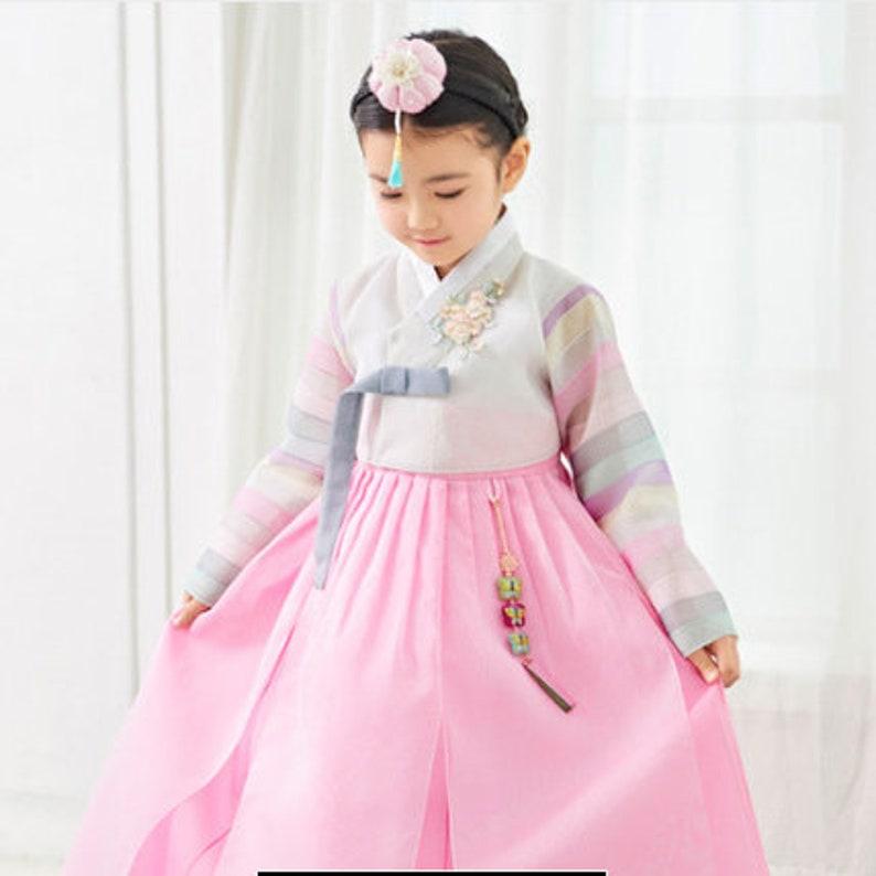 13fdcda04 Korean Dress Hanbok for Girl_Soft Pink   Etsy