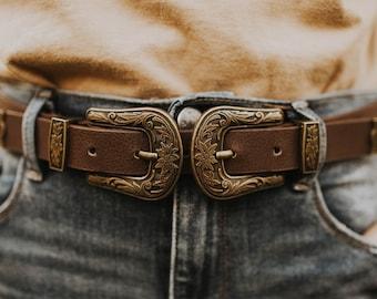 Western Two Buckle Belt