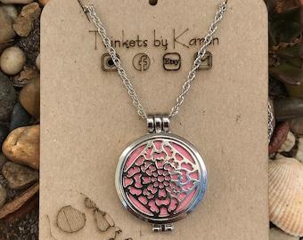 Aromatherapy locket necklace