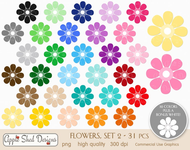 rainbow clip art sticker clip art spring multi-color clipart 31 qty sprintime SET 2 Clipart planner clipart FLOWERS icons easter