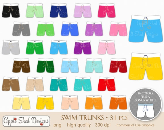 f46892e236 SWIM TRUNKS Clipart 31 qty planner clipart icons rainbow | Etsy