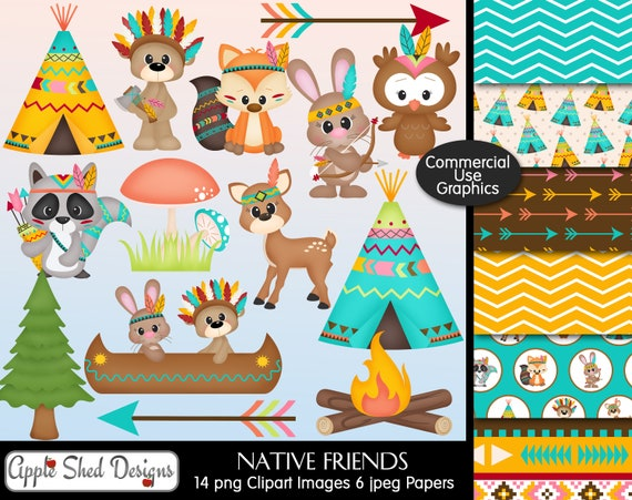 "Native American Indian TeePee Dream Catcher Scrapbook Stickers 5""x12"""