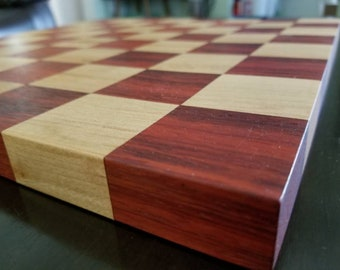 Chess Board- Solid Padauk and Maple