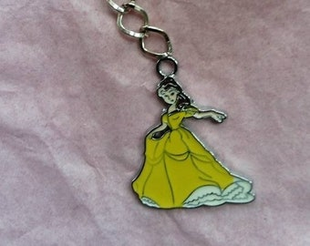 Belle Beauty and the Beast Keyring
