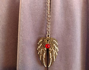 Golden Wings with Swarovski Crystal