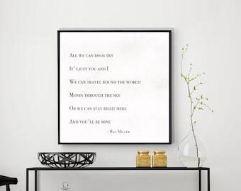 Fashion Sketch Printable Elegant Minimal Beauty Illustration Print Mac Miller Art Black White Abstract Geometric Lyrics Drawing Poster