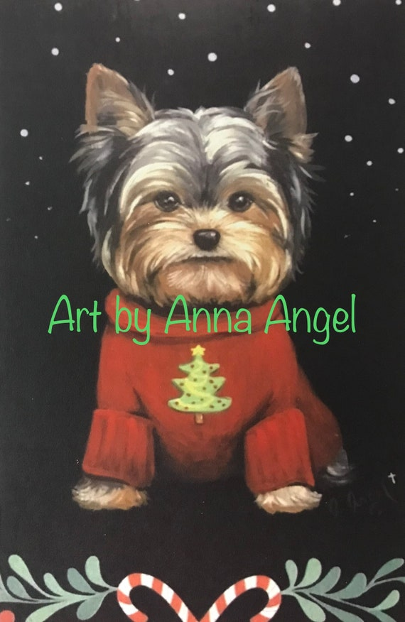 Yorkshire Terrier Yorkie Holiday Dog Christmas Cards Set of 8 | Etsy