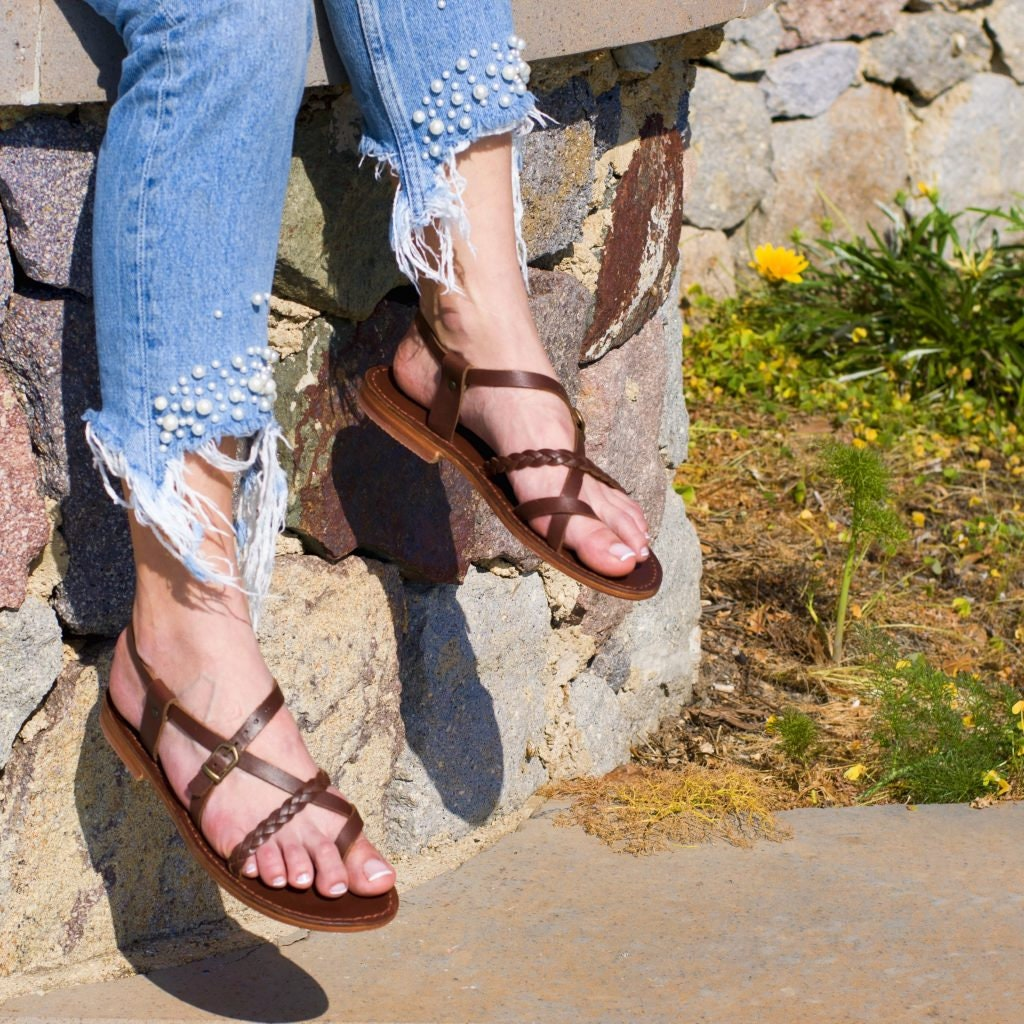 Les femmes en en en cuir sandales 2044 50e277