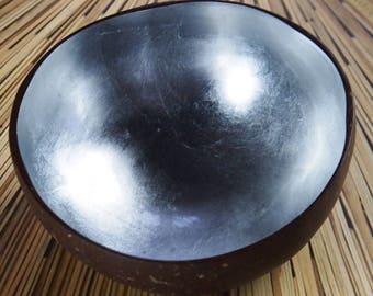 Vietnamese Coconut Shell Bowl-Silver