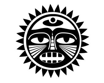 93d7a367b Polynesian Sun Decal / Tribe Decal / Nature Decal / Laptop Decal / Car Decal  / Adventure Decal / Computer / MacBook Decals / Window Decals