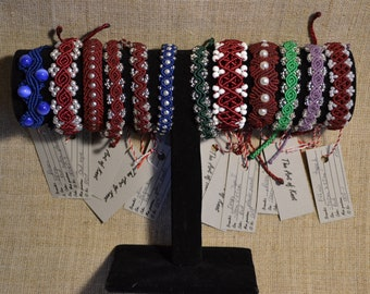 Beautiful macrame bracelets, made in Latvia