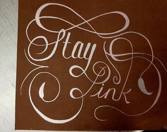 Creative calligraphy Lettering