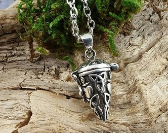 Celtic Knot Celtic Triquetras Prayer Box Trinity Knot Hidden Compartment Locket Secret Storage 925 Sterling Silver