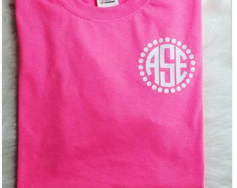 Short Sleeve Monogrammed t-shirts Monogrammed T-shirts for Youth and Adult Personalized and Customized Shirts 