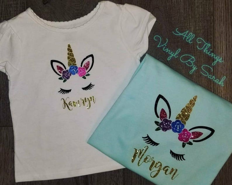 Unicorn Mermaid Birthday ShirtsBirthday Shirts Monogrammed