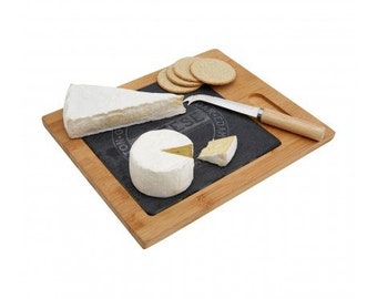 2Pc Cheese Set Stylish Cheese Board Set is Ideal For Serving.