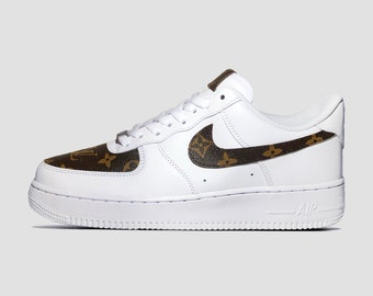 differently 71d80 d02db Custom Louis Vuitton Nike Air Force 1 s