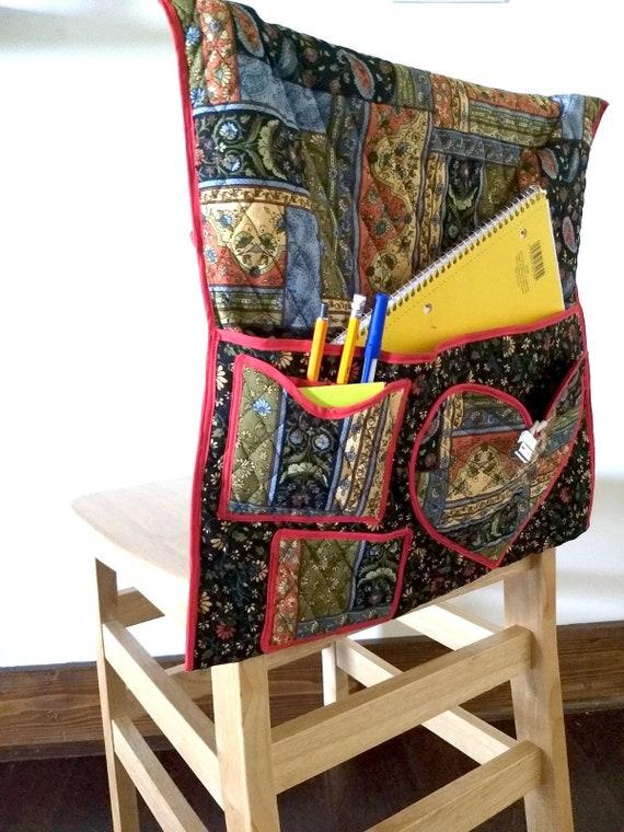Sensational Quilted Chair Cover With Pockets For School Students Durable Sewn Prairie Design Spiritservingveterans Wood Chair Design Ideas Spiritservingveteransorg