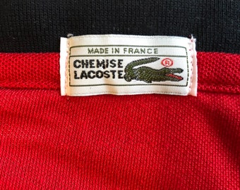 60/'s vintage Lacoste sleeveless shirts made in France