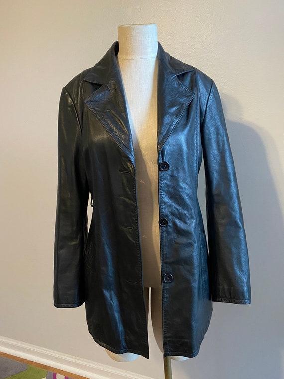 Leather Coat, Vintage Leather Jacket, Vintage Clot