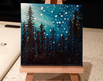 Custom Mini Astronomy-Themed Painting
