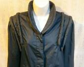 VTG 80 39 s David Benjamin Avant Gard Poplin Jacket BLACK CROPPED New wave Wmns Lg