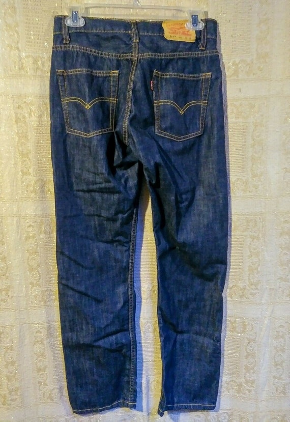cheap pretty cool outlet for sale Vtg Levi's 514 STRAIGHT leg SLIM DARK Wash Jeans Denim red | Etsy