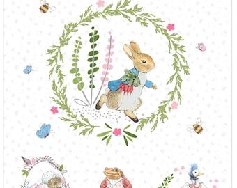 Quilting Treasures ~ Peter Rabbit ~ Mr McGreggor ~ 100/% Cotton Quilt Fabric