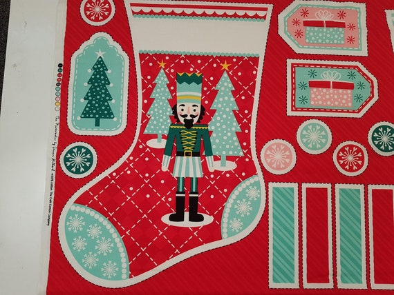 by Stuart Hillard The Nutcracker Christmas Stocking Panel 100/% Cotton fabric