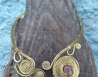 spiral necklace