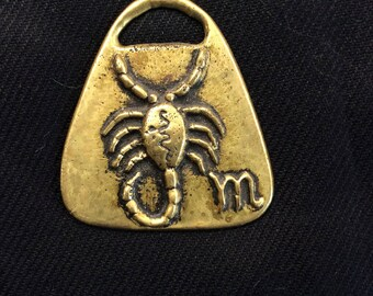 Brass Medallion - Scorpio Zodiac sign