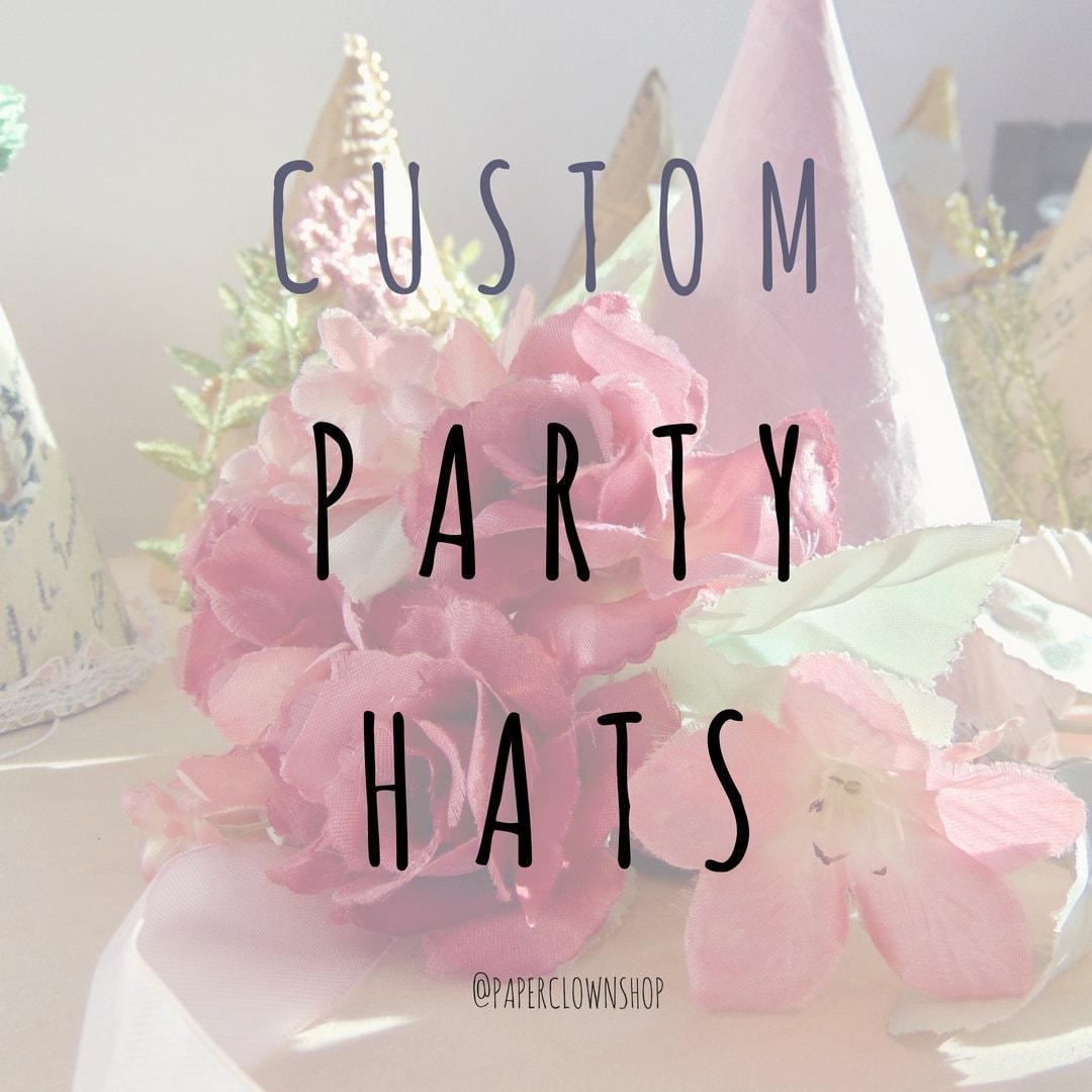 Custom Party Hat Custom Birthday Hat Custom Boy Party Hat  7c70d8bf059
