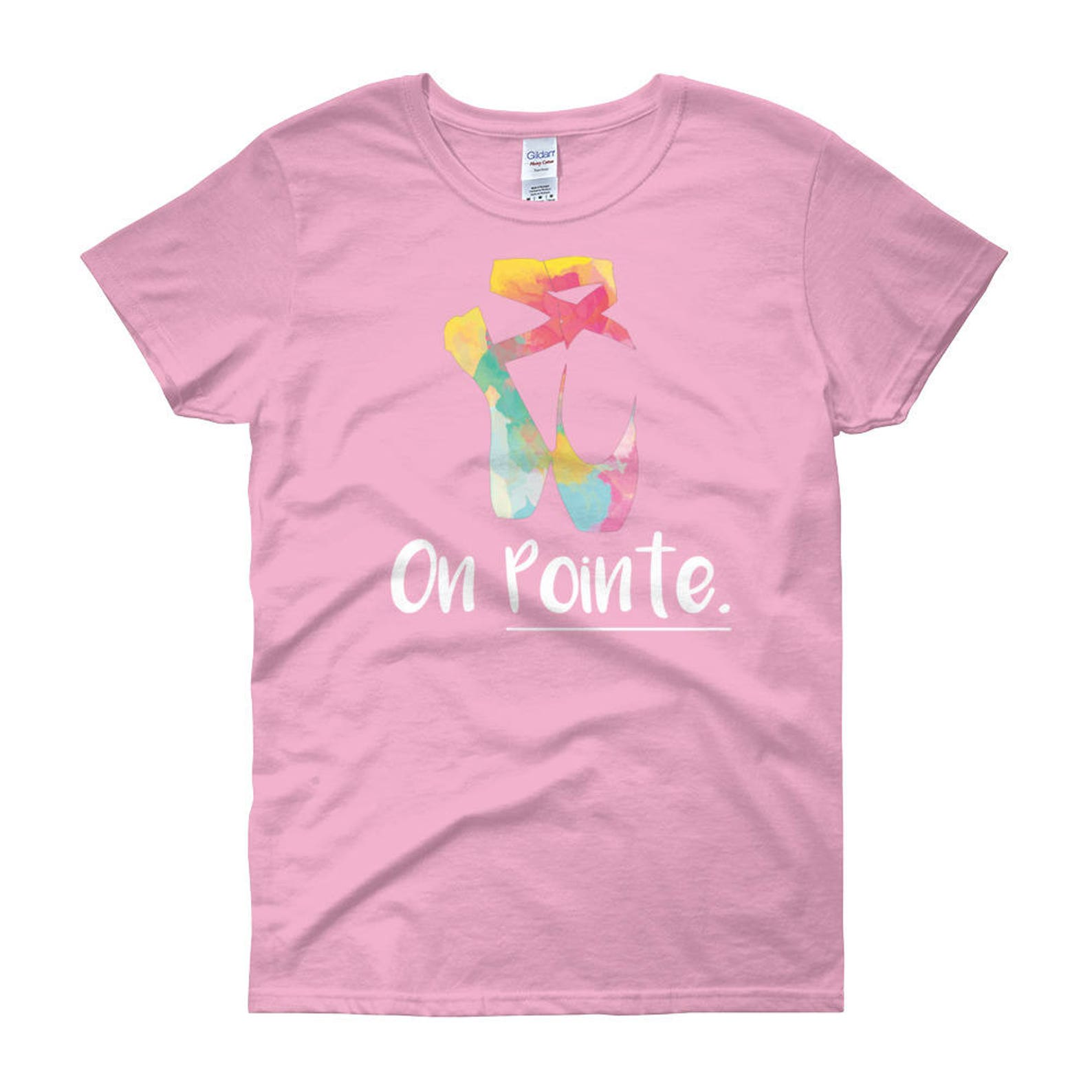 ballet pointe shoe womans t-shirt, cute ballet shirt, ballet shoe shirt, on pointe shirt, dancer shirt, classical dancer shirts,