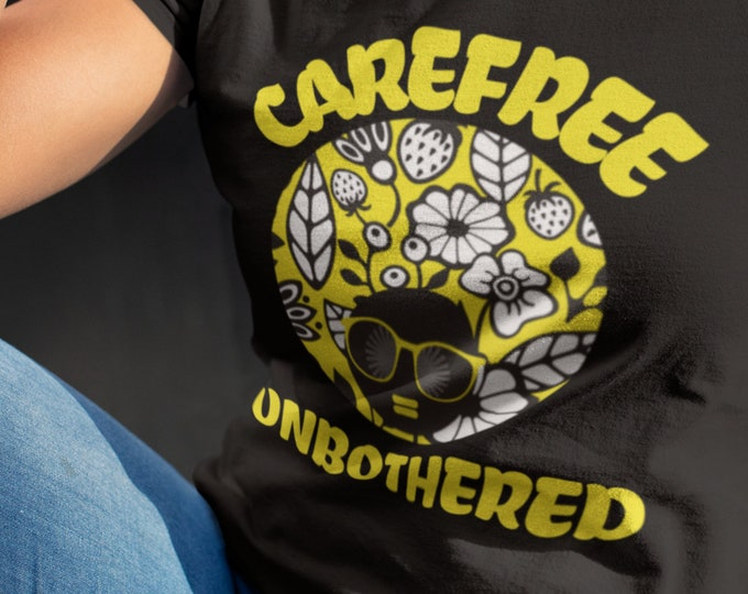 AfroMomma Afro Carefree Unbothered Tee