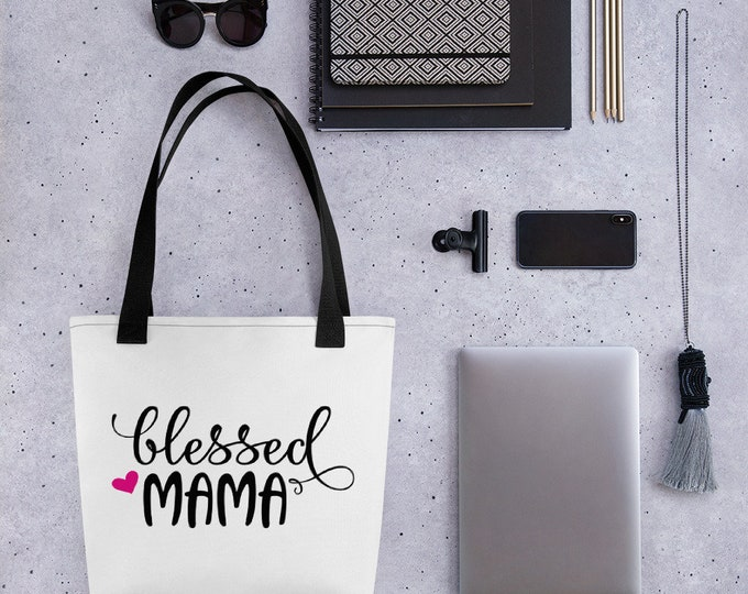 Blessed Mama Tote Bag