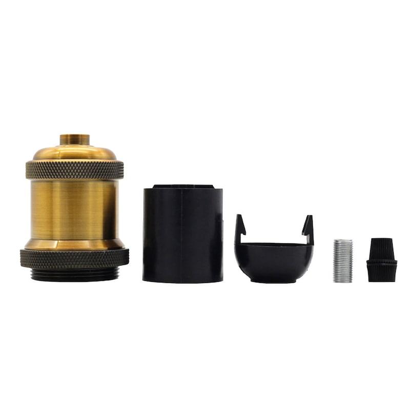 Black LightingDesigner 2Pieces//PackAntique Retro Vintage Brass Edison E27 Screw Bulb Aluminum Base Lamp Bulb Holder Pendant Lighting Socket Ceiling Light Adaptor